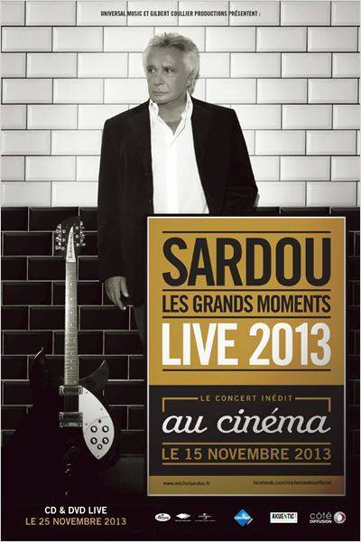 affiche tournée sardou les grands moments 2